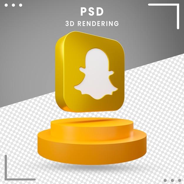 Logo Rotatif 3d Snapchat PSD Premium