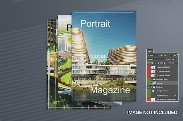 Les Magazines Couvrent La Maquette Psd gratuit