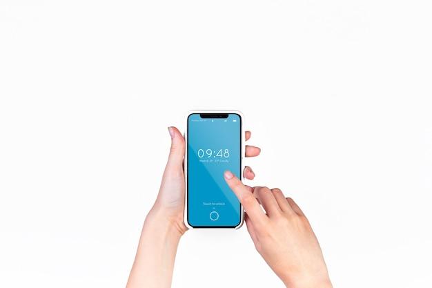 Main Tenant La Maquette De Smartphone PSD Premium