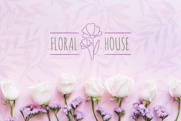 Maison Boutique De Fleurs Et Fleurs Blanches Psd gratuit