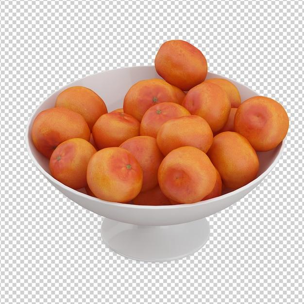 Mandarines isométriques PSD Premium