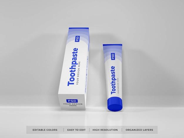 Maquette 3d D'emballage De Dentifrice PSD Premium