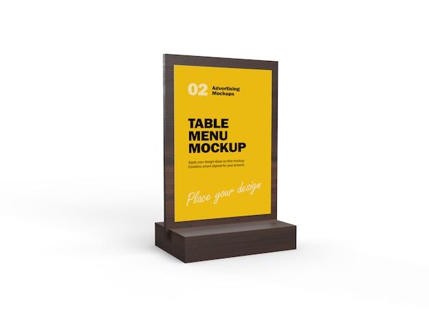 Maquette 3d De Menu De Nourriture De Table En Bois Pour Les Restaurants PSD Premium
