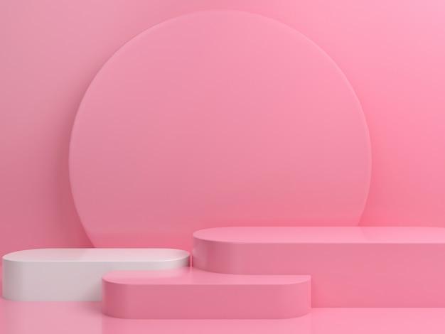 Maquette D'affichage De Scène De Podium Minimal De Couleur Pastel De Forme Géométrique Abstraite PSD Premium