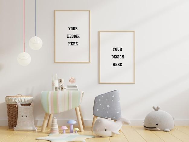 Maquette Affiche Dans La Chambre Des Enfants PSD Premium