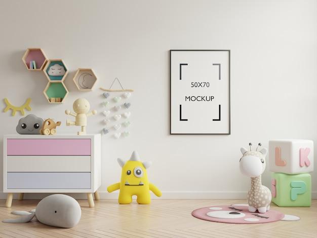 Maquette D'affiche à L'intérieur De La Chambre D'enfant PSD Premium