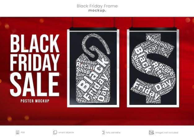 Maquette D'affiche Pour La Campagne De Marketing Du Vendredi Noir PSD Premium