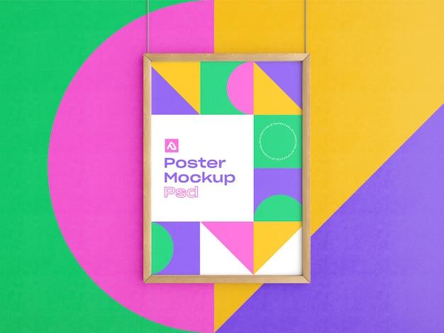 Maquette D'affiches En Bois PSD Premium