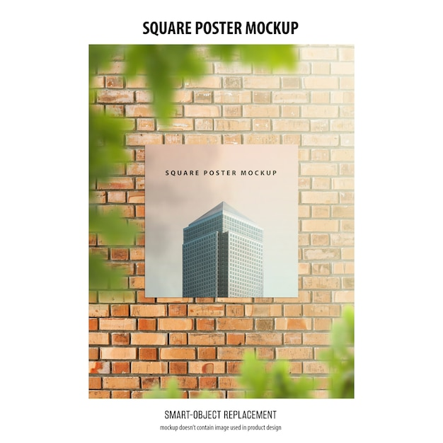 Maquette D'affiches Carrées Psd gratuit