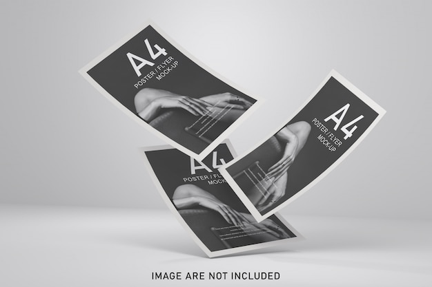 Maquette D'affiches Avec Une Couleur Douce PSD Premium