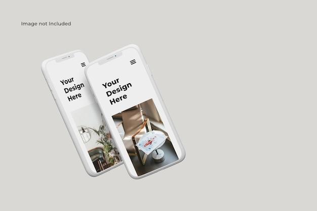 Maquette D'appareil Smartphone En Argile Volante PSD Premium