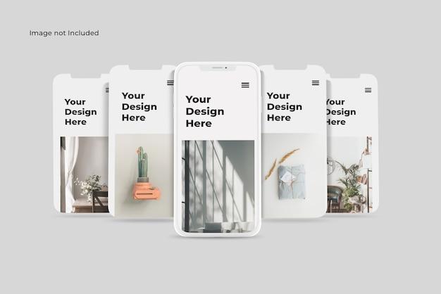 Maquette D'application De Présentation Pour Smartphone En Argile PSD Premium
