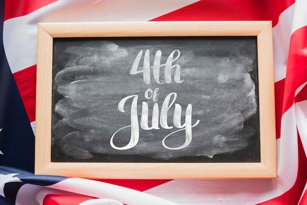 Maquette en ardoise pour la fête de l'indépendance des états-unis Psd gratuit