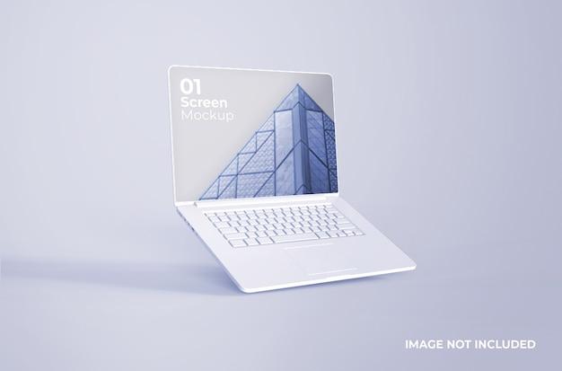 Maquette D'argile Blanche Macbook Pro PSD Premium
