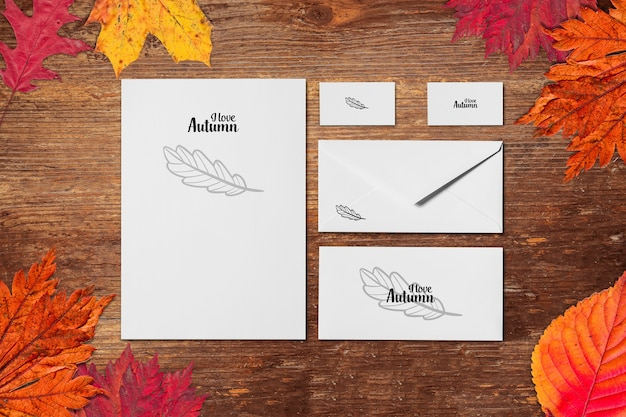 Maquette d'automne PSD Premium