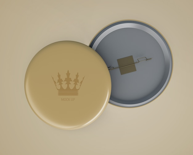 Maquette de badge élégant pour le merchandising Psd gratuit