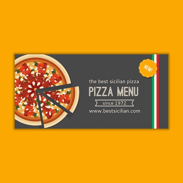 Maquette De Bannière De Menu De Pizza Psd gratuit