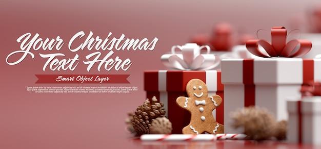 Maquette D'une Bannière De Noël PSD Premium