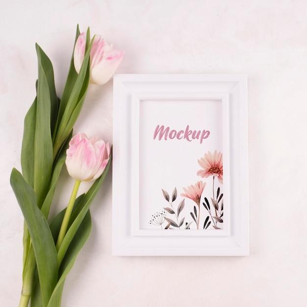 Maquette De Beau Concept De Fleur Psd gratuit