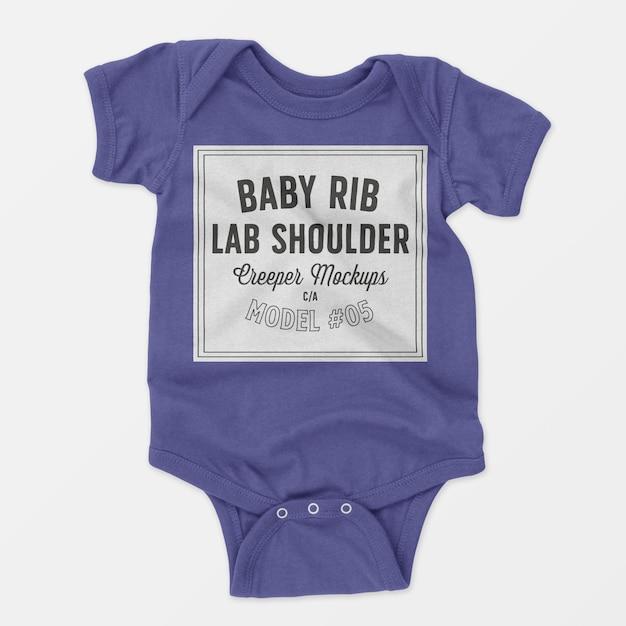 Maquette de bébé creeper Psd gratuit