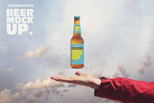 Maquette De Bière Céleste PSD Premium