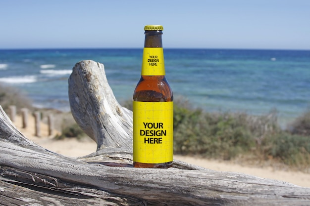 Maquette de bière coastal walk PSD Premium