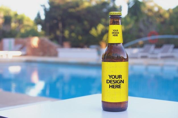 Maquette De Bière Du Lounge Club Pool PSD Premium