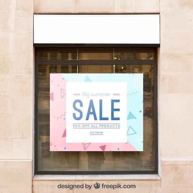 Maquette de billboard avec concept de vente Psd gratuit
