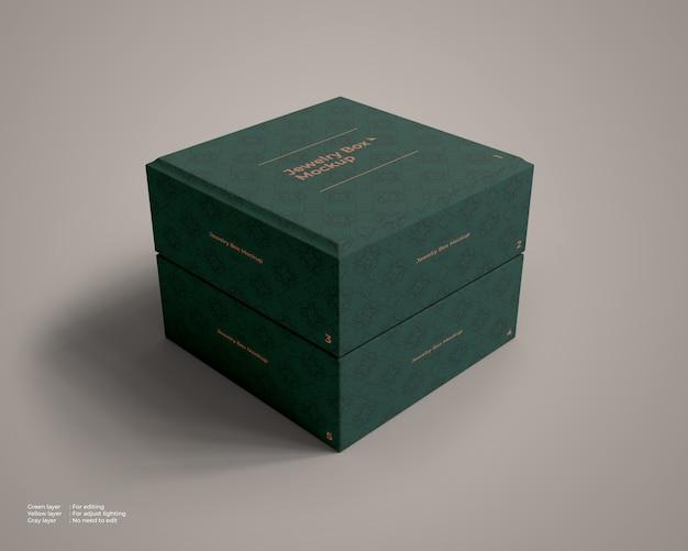 Maquette De Boîte à Bijoux Fermée PSD Premium