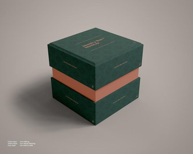 La Maquette De La Boîte à Bijoux Légèrement Ouverte PSD Premium