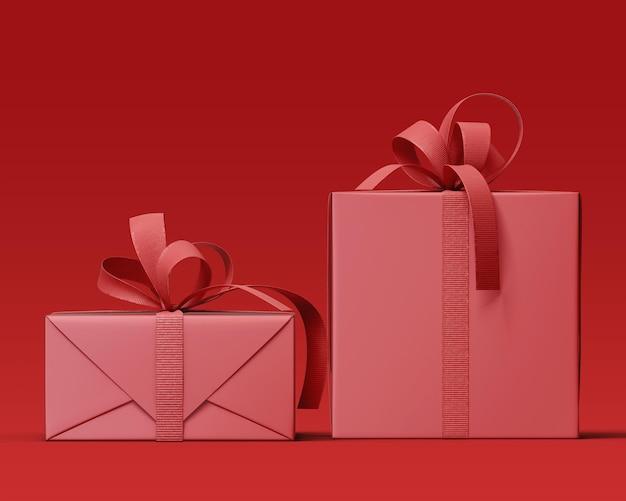 Maquette De Boîte-cadeau Réaliste Avec Ruban PSD Premium
