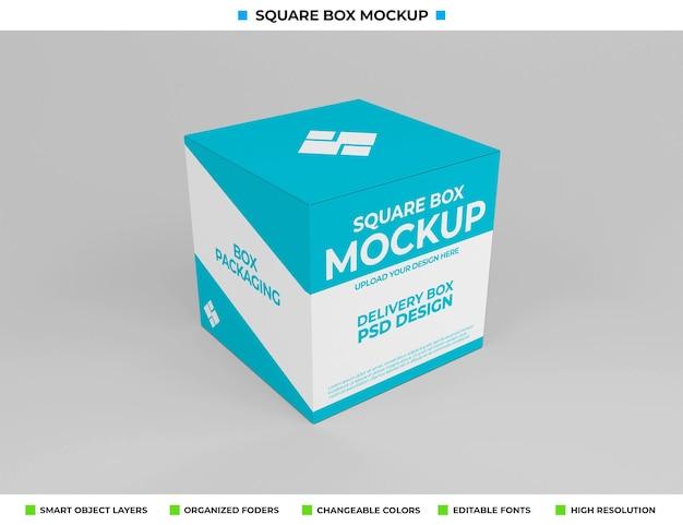 Maquette De Boîte Carrée Pour L'emballage Du Produit PSD Premium