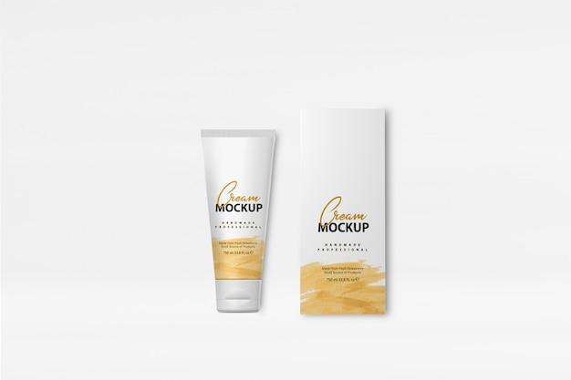 Maquette de boîte à crème PSD Premium