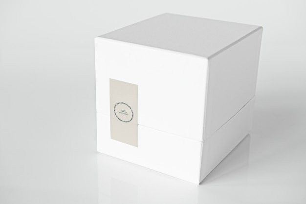 Maquette De Boîte D'emballage Blanche Simple Psd gratuit