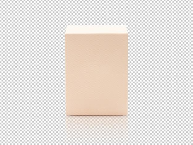 Maquette De Boîte D'emballage De Produit Orange Vierge PSD Premium