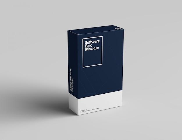 Maquette De Boîte à Logiciel PSD Premium