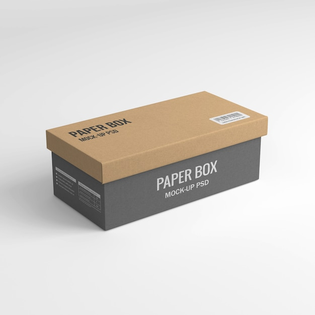 Maquette de boîte à papier PSD Premium