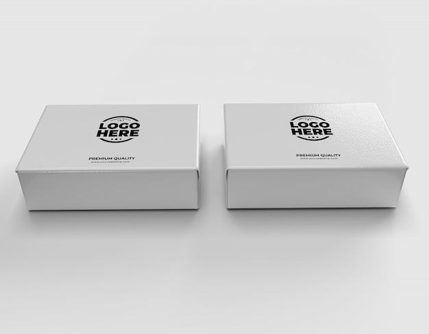 Maquette De Boîtes-cadeaux PSD Premium
