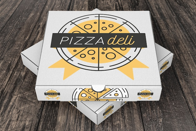 Maquette De Boîtes à Pizza Empilées Psd gratuit