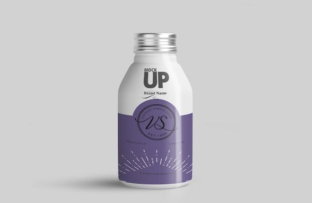 Maquette de bouteille en aluminium PSD Premium