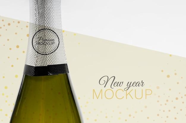 Maquette De Bouteille De Champagne Nouvel An Psd gratuit
