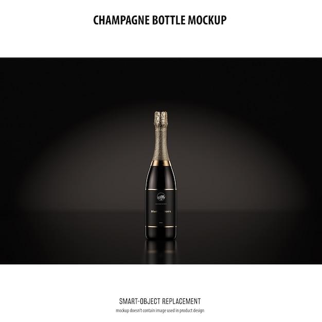 Maquette De Bouteille De Champagne Psd gratuit