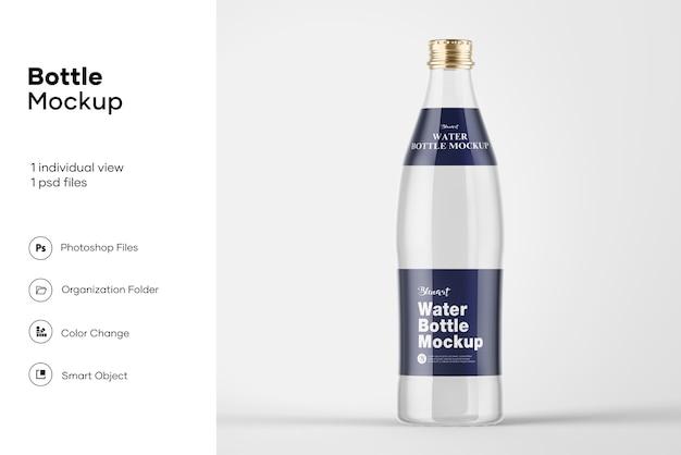 Maquette De Bouteille D'eau En Verre Transparent PSD Premium