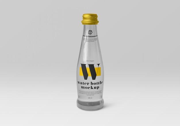 Maquette De Bouteille D'eau En Verre PSD Premium