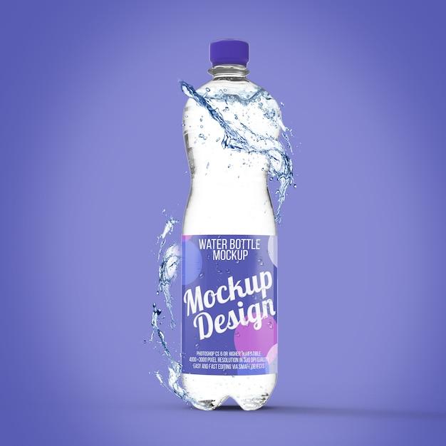 Maquette de bouteille d'eau PSD Premium