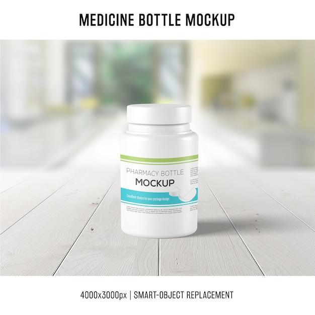 Maquette de bouteille de médicament Psd gratuit