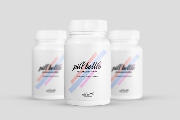 Maquette de bouteille de pilule PSD Premium