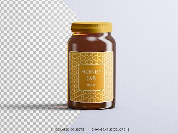 Maquette De Bouteille En Verre D'emballage De Pot De Miel Isolé PSD Premium