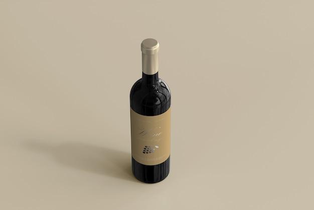 Maquette De Bouteille De Vin Psd gratuit