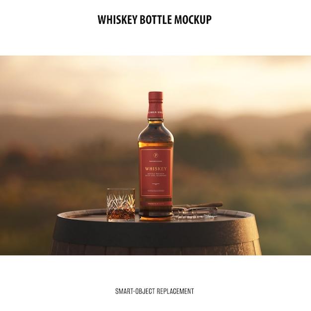 Maquette De Bouteille De Whisky Psd gratuit